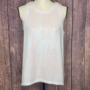 CALIA everyday high neck muscle tank pink white M